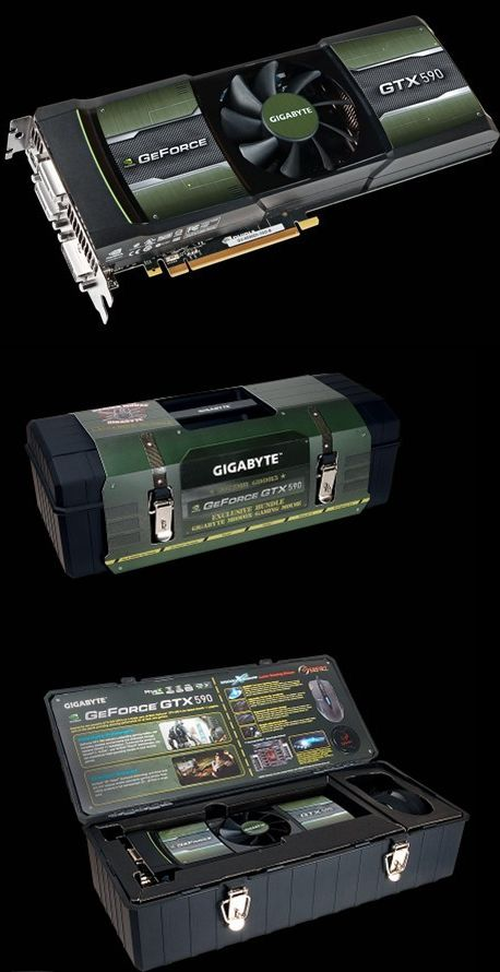 GeForce GTX 590 версия от компании GIGABYTE