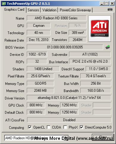 ATI (1002) - одна из главных отличительных особенностей эталонной печатной платы