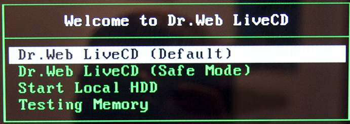 livecd default