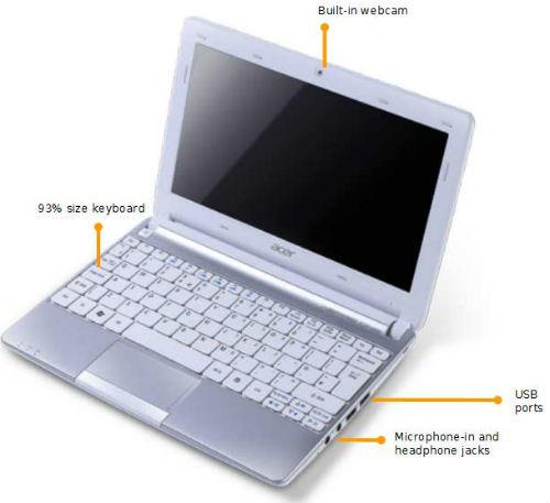 Драйвера Acer Aspire One Aod270