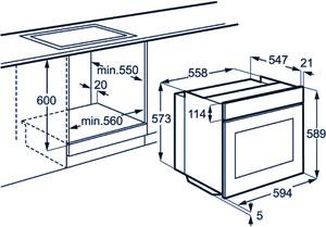 Размеры маленького духового шкафа