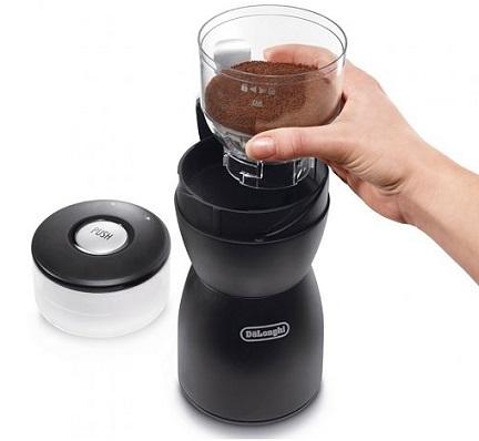 Применение кофемолки Delonghi