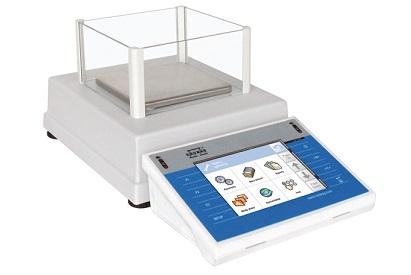 Лабораторные весы с сенсорным дисплеем