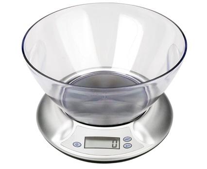 Настольные электронные весы со стеклянной чашей