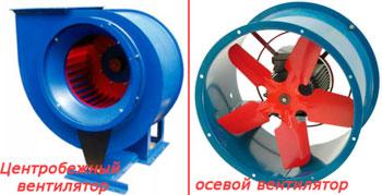 Различия вытяжных вентиляторов