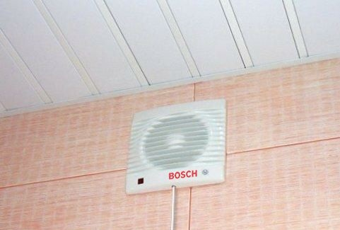 Вытяжка с вентилятором Bosch под потолком